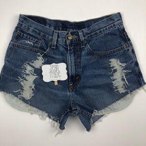 Levi's Distressed Cutoff Jean Shorts
